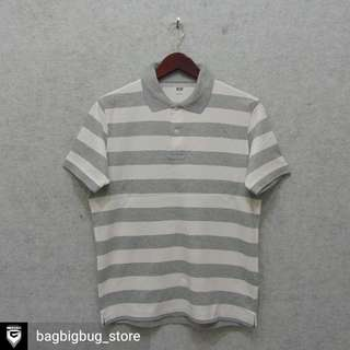 UNIQLO Stripe Poloshirt -Size: L fit M