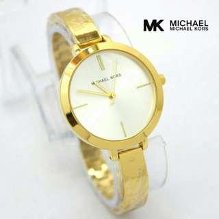 Jam tangan wanita michael kors gelang gold