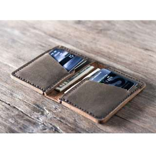 Leather Handmade mini Wallet (Customizable