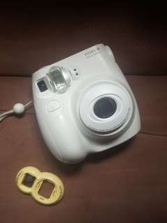 Instax Mini 7s with batteries, film, and close-up/selfie lens included!