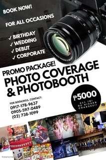 Photo coverage + Photobooth