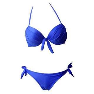 Royal blue push up bikini