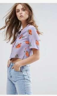 UK 6 Nobody's Child Crop Shirt in Vintage Floral