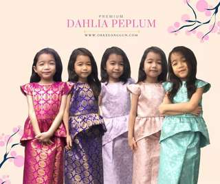 Baju Raya Peplum Baby (Dahlia Peplum)
