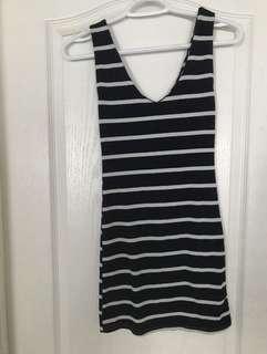 Navy blue stripped dress