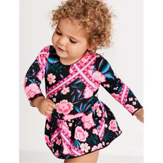 Bonds Stretchies Balletsuit Tapestry Floral Size 00 0 1 2