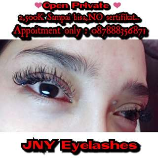 Private eyelashes extantion