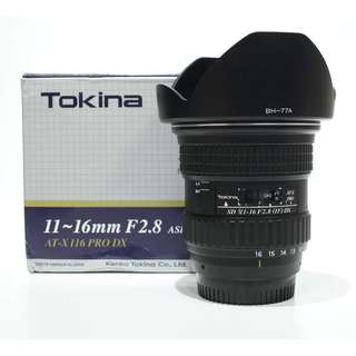 Tokina 11-16mm f2.8 ATX PRO DX Lens for Nikon Mount