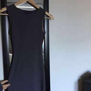 Grey midi dress size 6