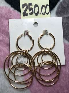 Multiple hoop earrings