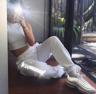 Gosha rubchinskiy reflective sweatpants size M