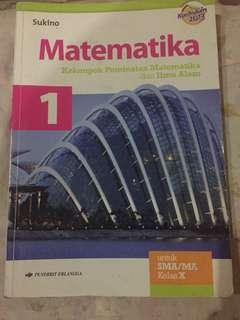 MATEMATIKA PEMINATAN KELAS 10, PENERBIT ERLANGGA, KURIKULUM 2013