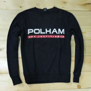 Jaket sweater crewneck Polham (Second Original)