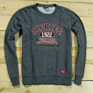 Jaket sweater crewneck Dickies Dark Grey (Second Original)