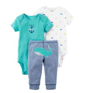 *6M* Brand New Carter's 3-Piece Little Character Set For Baby Boy