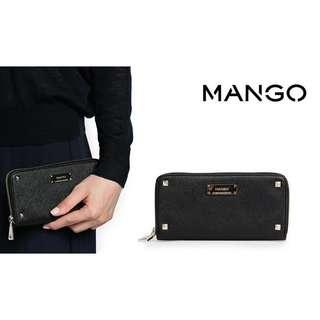 Mango Saffiano Studded Wallet