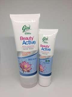 Gizi Beauty Active Facial wash & Cream Anti Acne