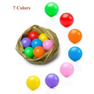 Colour Plastic Balls - 3 sizes