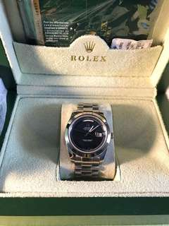 Second Rolex Daydate Black Dial Fullset Highest Clone