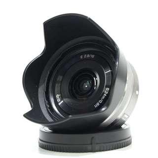 Sony E 16mm f2.8 Lens (Silver) Lens