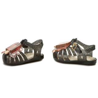 mini melissa aranha viii (Dark grey+pink)