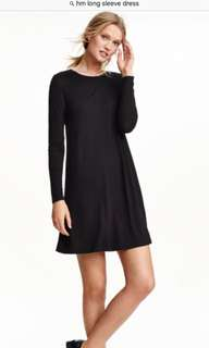 Brand new black dress from h&m
