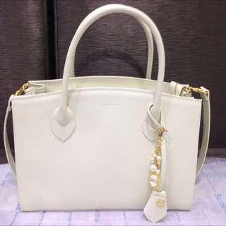🚚 Hand Bag(日本購回全新)Samantha Thavasa 米色手提肩背包 購於日本名古屋包包 正品