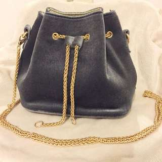 Mini Bucket Bag w Chain Strap