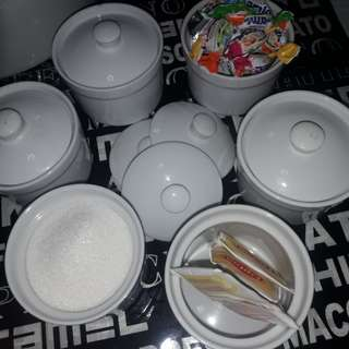 Buy 6/get 1 for 500 misc condiments/candy container