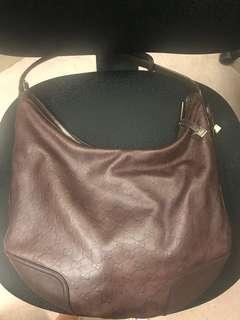 Gucci Guccissima Brown shoulder bag *authentic*