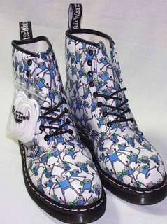 Dr Martin Boots 靴 特別限量版 籃白全新34碼(可議價)