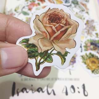 Vintage Flower Stickers