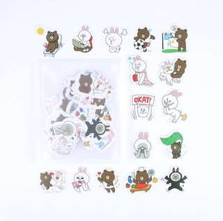 [Stickers] #20 Line Stickers for diary and scrapbooking