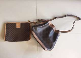 Selling this Authentic celine for two items pouch and bag
