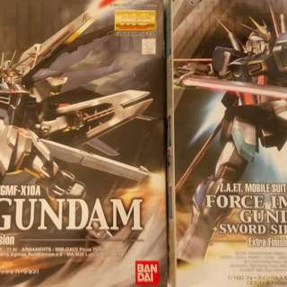 已砌 Mg 電鍍版自由 重劍脈衝高達 freedom gundam sword impulse gundam extra finish version