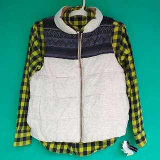 Down Vest - outdoor vest - mountain vest - flannel