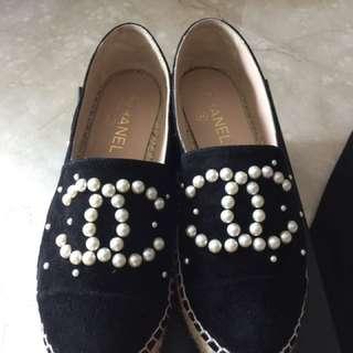 Chanel 37珍珠魚夫鞋