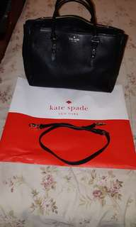 Authentic Kate Spade Bag Used Black Color