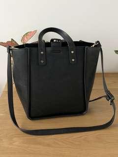 Zara Black Leather Carry Bag