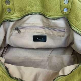 Genune Leather Avocado Green Hand Bag