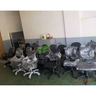 18pcs C-0211 CLERICAL CHAIRS BLACK LEATHERETTE--KHOMI