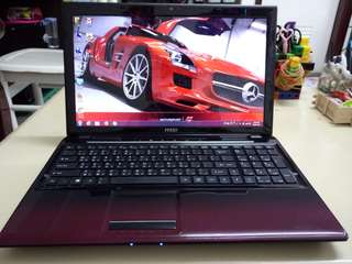 Msi 15.6inch/win7/AMD/4Gb/320Gb hdd/Gaming