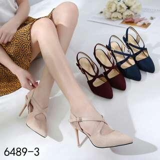 [MANOLO BLAHNIK CROSSINA HEELS 6489-3] Sepatu Fashion Wanita Impor Murah