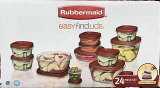 Rubbermaid food containers 24pcs