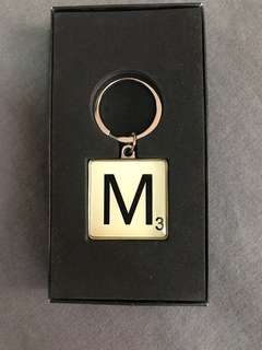 Typo Scrabble Letter Keyring - M