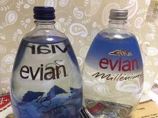 Evian 2000 & 2002 紀念版(未開蓋)2支