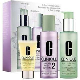 Clinique 3-step system for skin type 2 dry