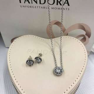 Pandora Necklace & Earrings