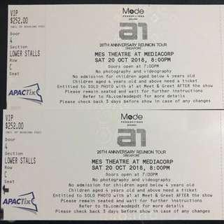 Pair of A1 reunion concert 2018