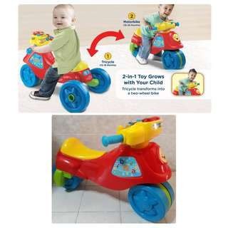 VTECH 2in1 Learn n Zoom Motor Bike Ride On